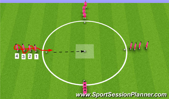 Football/Soccer Session Plan Drill (Colour): Fun Passing Warm Up