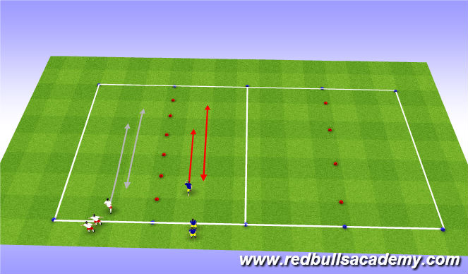 Football/Soccer Session Plan Drill (Colour): Main-theme (semi-opposed)