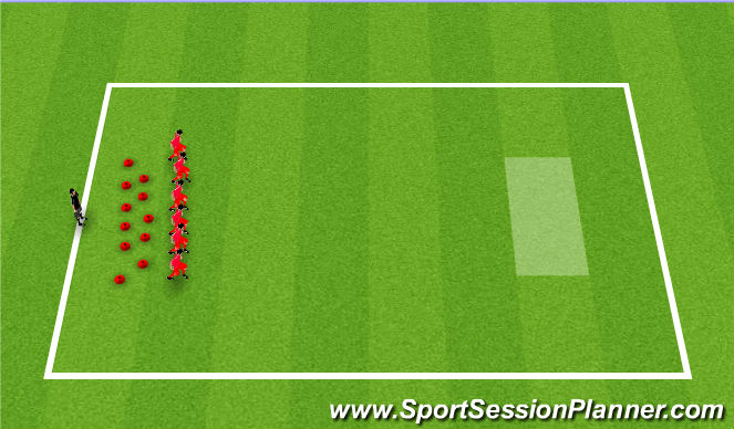 Football/Soccer Session Plan Drill (Colour): Serving the customers ast Krusty Krab