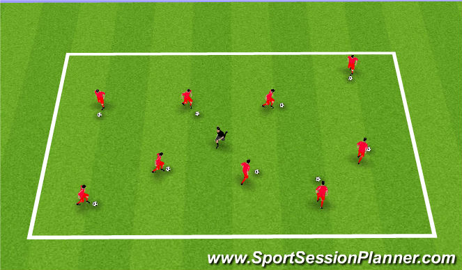 Football/Soccer Session Plan Drill (Colour): Plankton seeks revenge