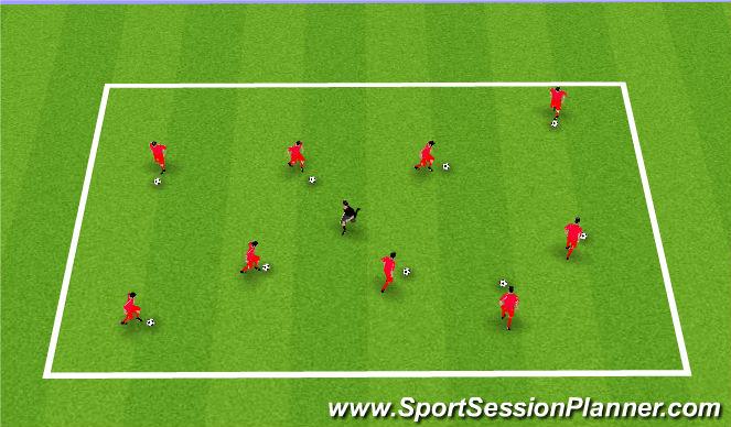 Football/Soccer Session Plan Drill (Colour): Plankton seeks revenge