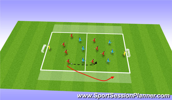 Football/Soccer Session Plan Drill (Colour): Crossing & Finishing Game