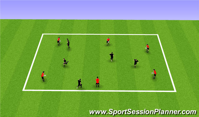 Football/Soccer Session Plan Drill (Colour): Head Chest Foot Warm Up