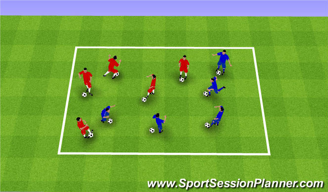 Football/Soccer Session Plan Drill (Colour): It's a Knockout