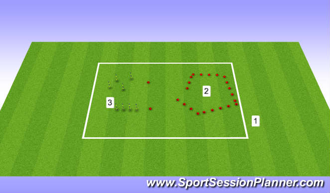 Football/Soccer Session Plan Drill (Colour): warm up movemnet