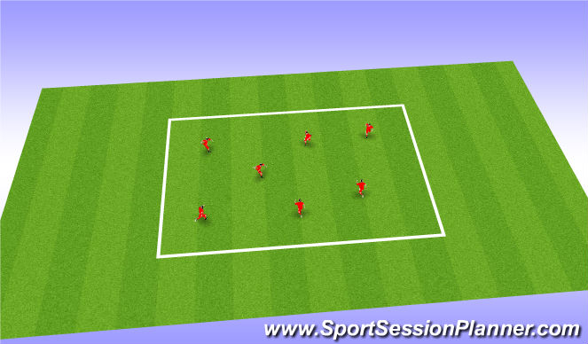 Football/Soccer Session Plan Drill (Colour): Gk warm up