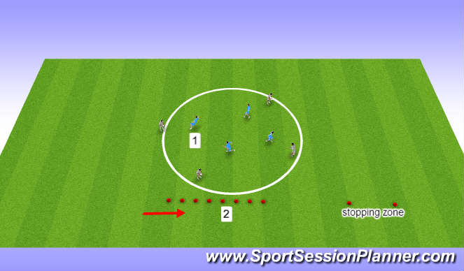 Football/Soccer Session Plan Drill (Colour): football movement and familirisation