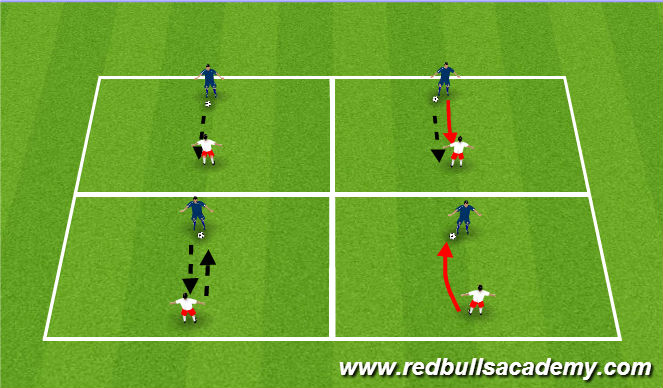 Football/Soccer Session Plan Drill (Colour): 5 Pass and Pressure