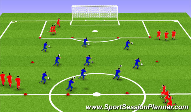 Football/Soccer Session Plan Drill (Colour): 2. Líkamsþjálfun: