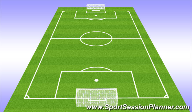 Football/Soccer Session Plan Drill (Colour): Play - 7v7+1