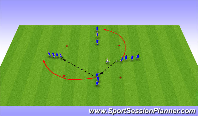 Football/Soccer Session Plan Drill (Colour): 4v1 with movement