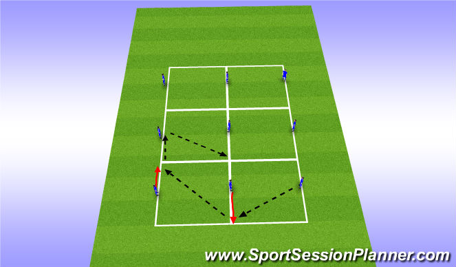 Football/Soccer Session Plan Drill (Colour): S Passing