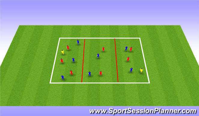 Football/Soccer Session Plan Drill (Colour): Possession - position specific