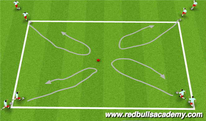 Football/Soccer Session Plan Drill (Colour): Turning Activity/Relay