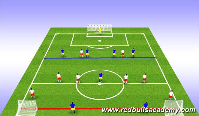 Football/Soccer Session Plan Drill (Colour): SSG - 8v6