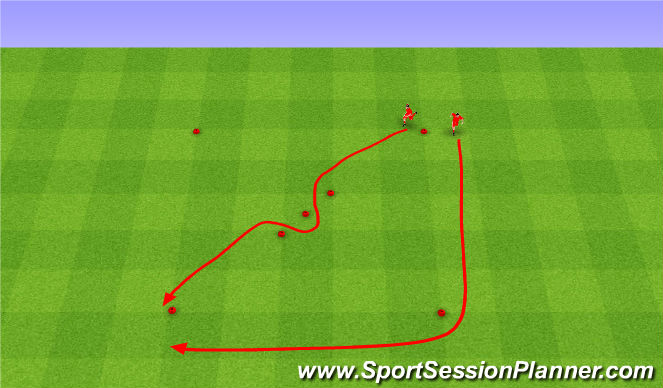 Football/Soccer Session Plan Drill (Colour): Speed. Szybkość.