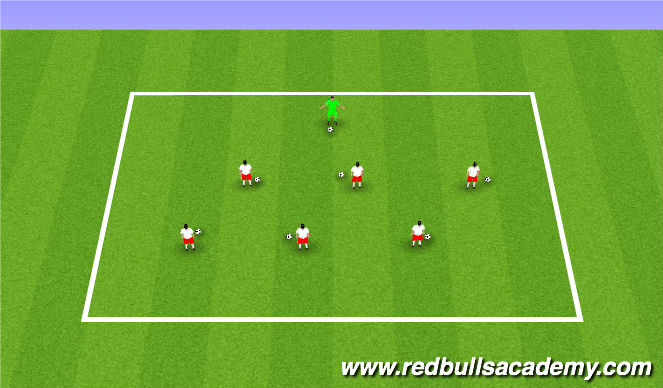 Football/Soccer Session Plan Drill (Colour): Super Heroes in Training