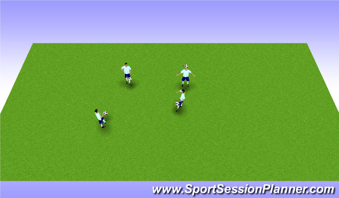 Football/Soccer Session Plan Drill (Colour): Warm Up Juggling