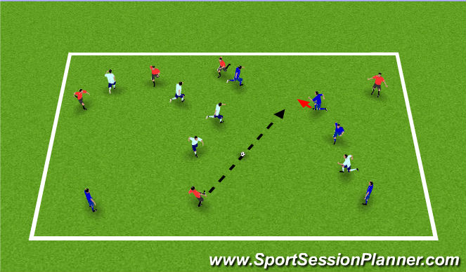 Football/Soccer Session Plan Drill (Colour): Passing Possession