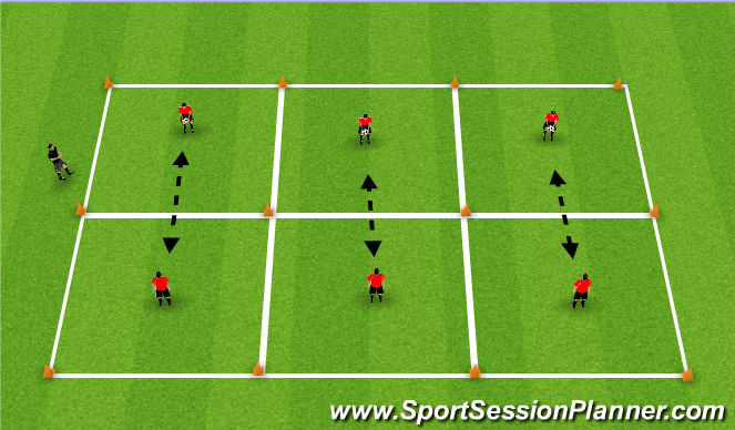 Football/Soccer Session Plan Drill (Colour): Basic Passing Drill