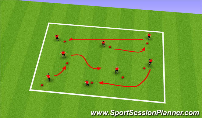 Football/Soccer Session Plan Drill (Colour): Cone Jump