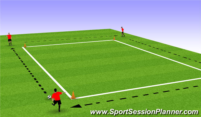 Football/Soccer Session Plan Drill (Colour): Back Foot Passing Drill