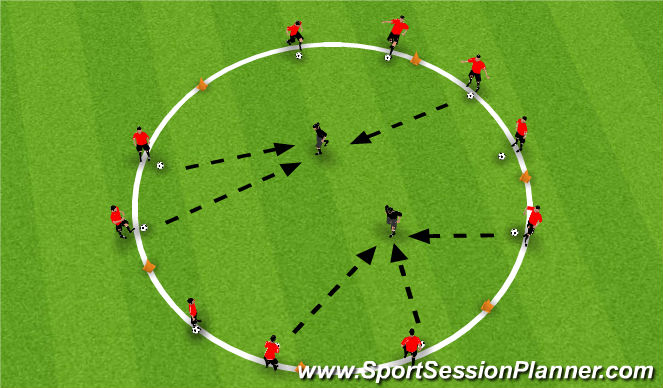 Football/Soccer Session Plan Drill (Colour): Ouch!
