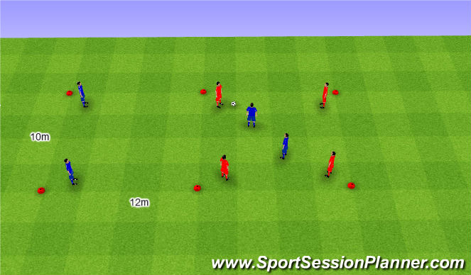 Football/Soccer Session Plan Drill (Colour): 4v4+2. 4v4+2.