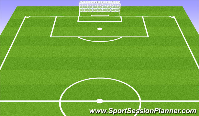 Football/Soccer Session Plan Drill (Colour): 6v6+1