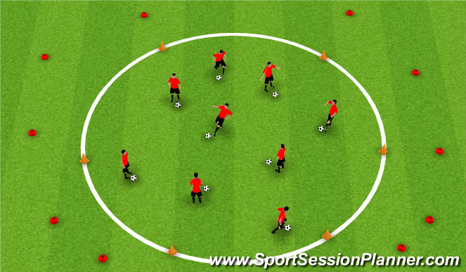 Football/Soccer Session Plan Drill (Colour): Cone Head