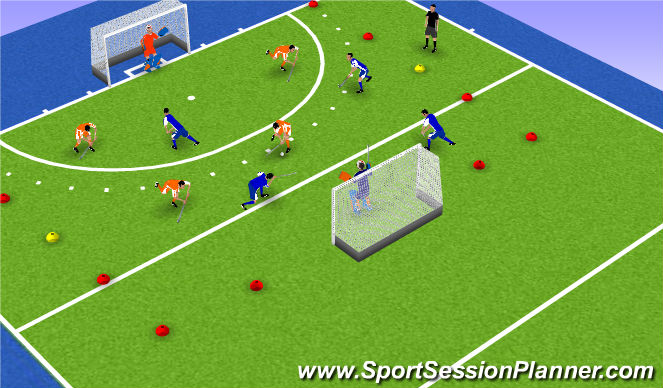 Hockey Session Plan Drill (Colour): Screen 7