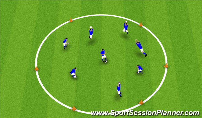 Football/Soccer Session Plan Drill (Colour): Ball in Hand Drills/Goalkeeper Warm Up