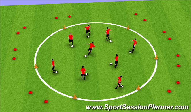 Football/Soccer Session Plan Drill (Colour): Allien Attack
