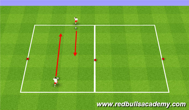 Football/Soccer Session Plan Drill (Colour): Warm up (Unoppossed to Semi opposed)