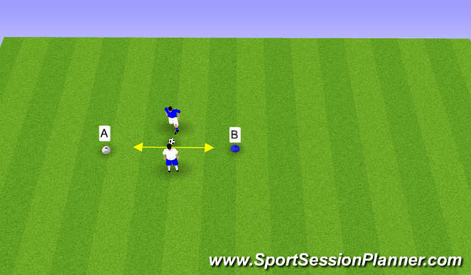 Football/Soccer Session Plan Drill (Colour): Line Game