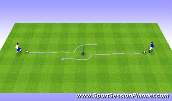 Football/Soccer Session Plan Drill (Colour): Maradona Moves