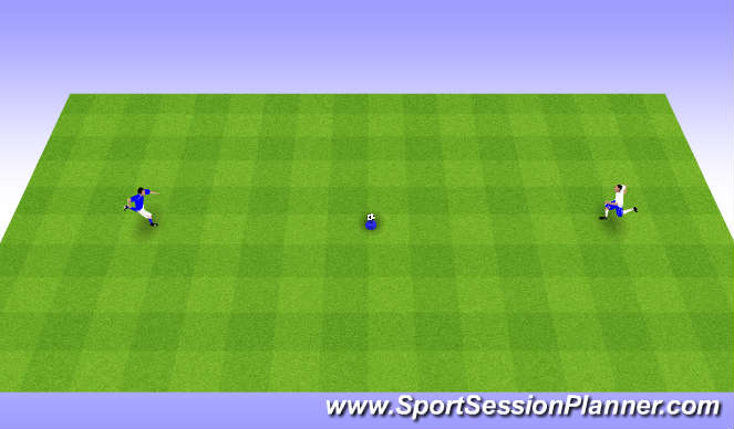 Football/Soccer Session Plan Drill (Colour): Cone Game-Reaction Game