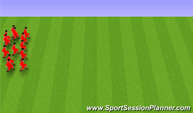 Football/Soccer Session Plan Drill (Colour): Afslöppun