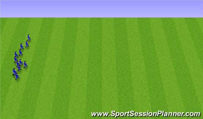 Football/Soccer Session Plan Drill (Colour): 5. Afslöppun (5 mín).