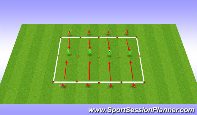 Football/Soccer Session Plan Drill (Colour): Unopposed Static Shooting