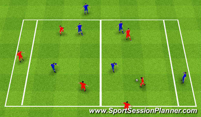 Football/Soccer Session Plan Drill (Colour): Skill Practice / SSG