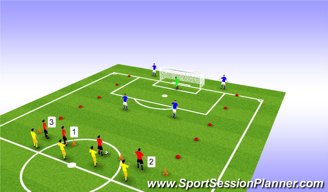 Football/Soccer Session Plan Drill (Colour): 4v2 Switch