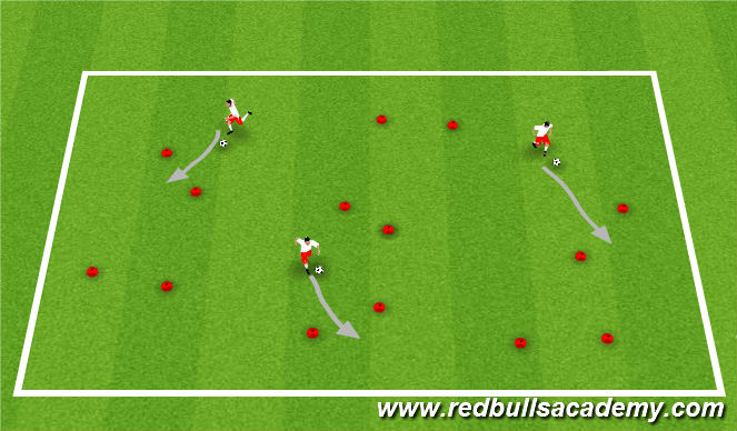 Football/Soccer Session Plan Drill (Colour): Ball Mastery Act 1