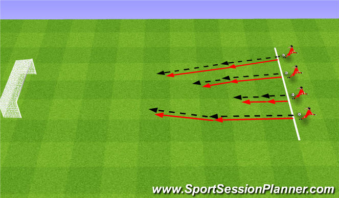 Football/Soccer Session Plan Drill (Colour): Kto dalej?