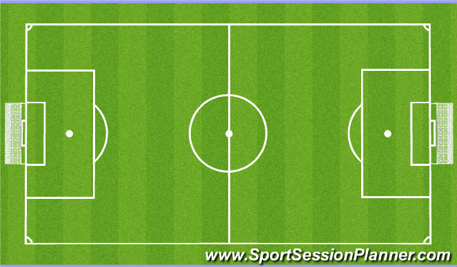 Football/Soccer Session Plan Drill (Colour): Area 3
