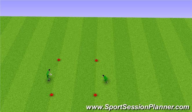 Football/Soccer Session Plan Drill (Colour): Core Skill pt 1