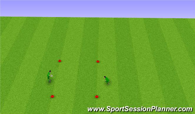 Football/Soccer Session Plan Drill (Colour): Core Skill pt 1