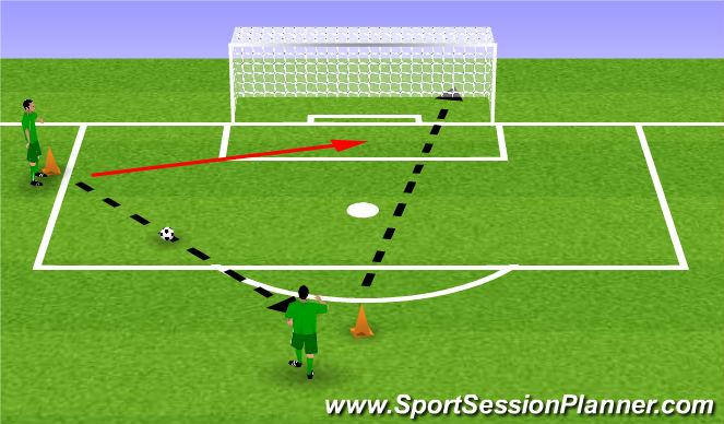 Football/Soccer Session Plan Drill (Colour): Lightning