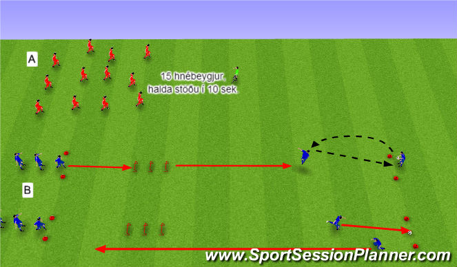 Football/Soccer Session Plan Drill (Colour): 3. Líkamsþjálfun