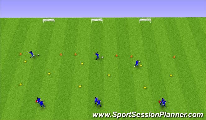 Football/Soccer Session Plan Drill (Colour): 4. Tækniþjálfun